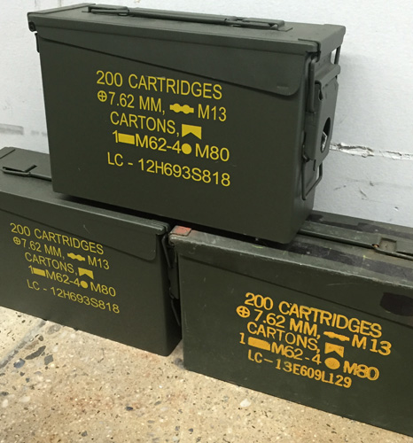 Military Surplus Metal Ammo Cans