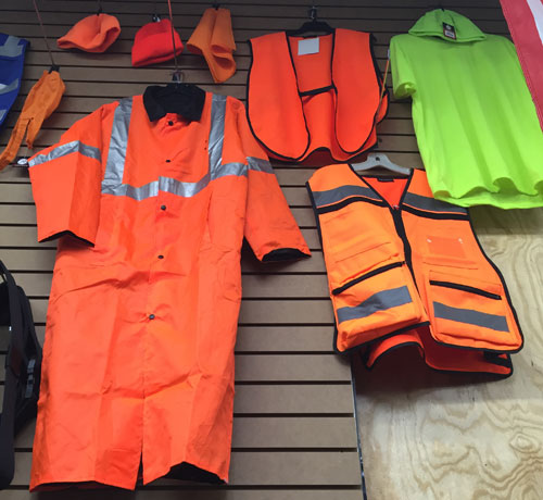 Safety Orange Vests, Bandanas, Hats, Rain Jackets