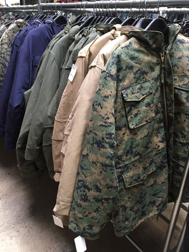 Military M65 Field Jackets, MA1 Flight Jackets, N2B Short Waist Parkas