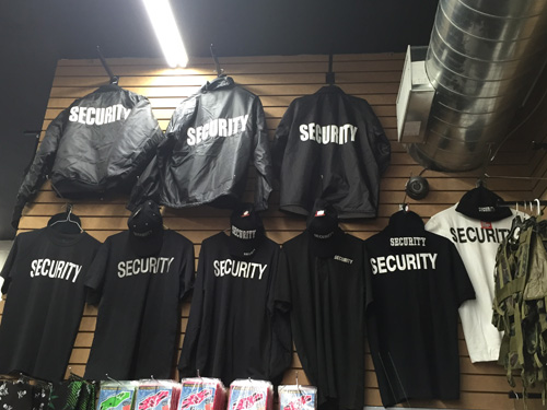 Security Uniforms, Security Clothing, Uniform Pants, Shirts, Security Polos, Hats, Gloves, Security Jackets